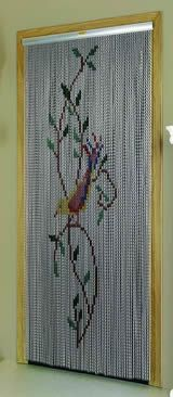 Chain Link Door Fly Curtain - Bird in a Tree Pattern