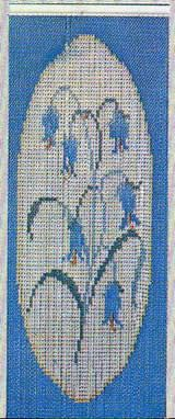 Chain Link Door Fly Curtain - Bluebell Pattern