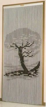 Chain Link Door Fly Curtain - Bonsai Tree Pattern