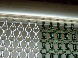 Chain Link Door Fly Curtain - Double Doorway