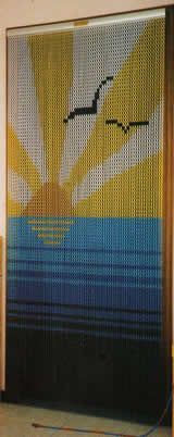 Chain Link Door Fly Curtain - Sea and Sun Pattern