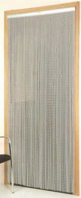 Chain Link Door Fly Curtain - Silver