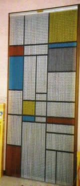 Chain Link Door Fly Curtain - Square Pattern