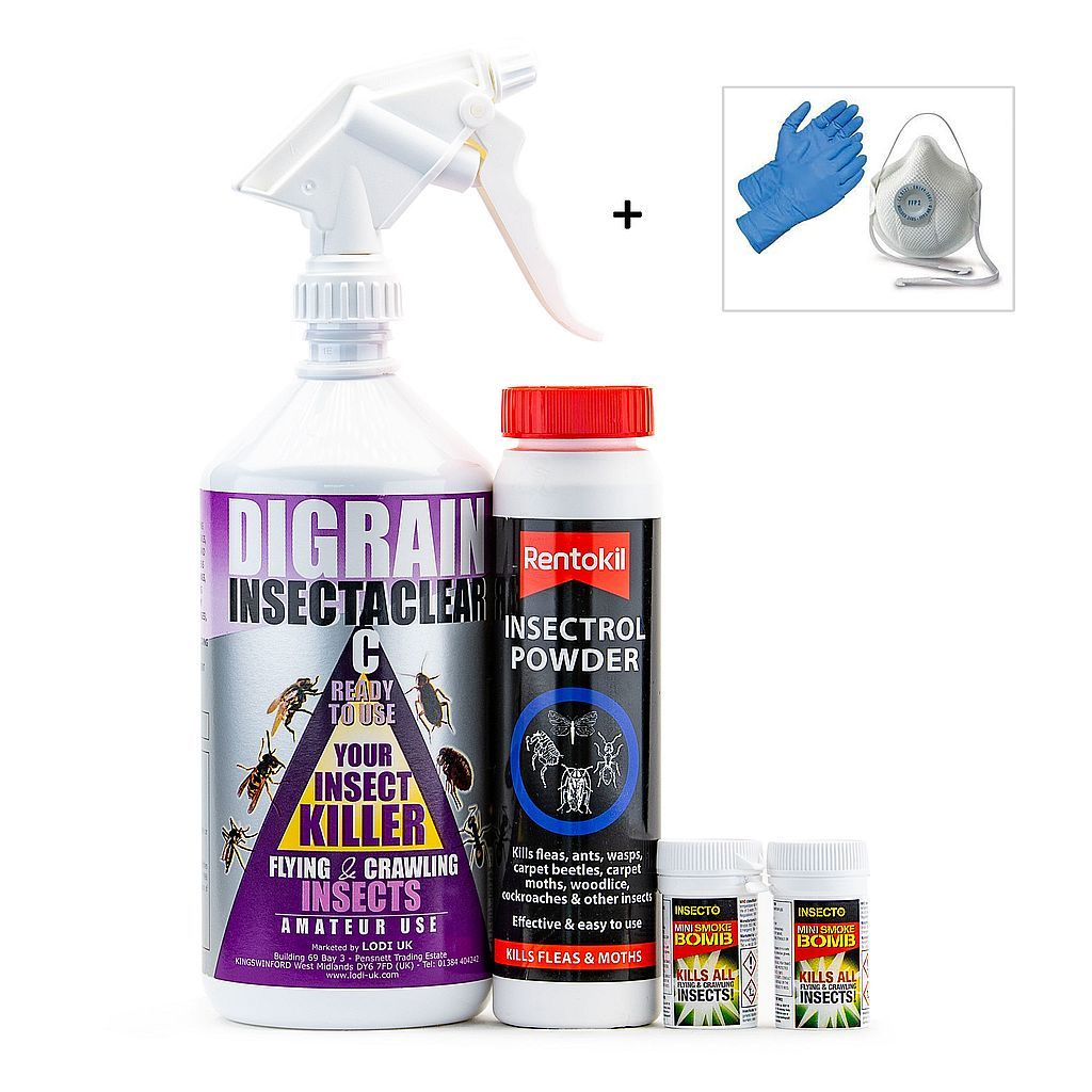Clothes Moth Kill and Control Treatment  Kit 1