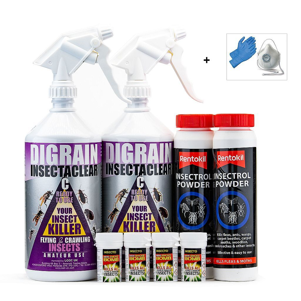 Clothes Moth Kill and  Control Treatment Kit 2
