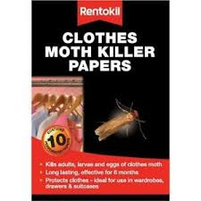 Clothes Moth Killer Papers x 10