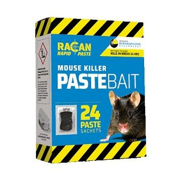 Racan Rapid Mouse Poison Paste Bait 24 x 10g sachets