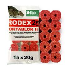 Rodex Rat Poison Bait Blocks 15 x 20g