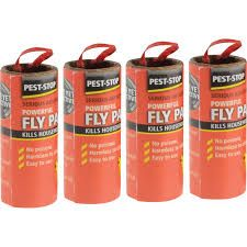 Sticky Fly Ribbons - 1 Pack of 4